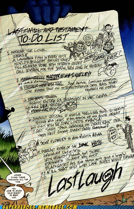 batman bucket list joker Straight off the Page wtf - 6098071808