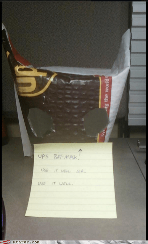 batman,delivery,package,some men just want to wat,UPS