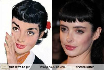Ad funny girl Krysten Ritter retro TLL