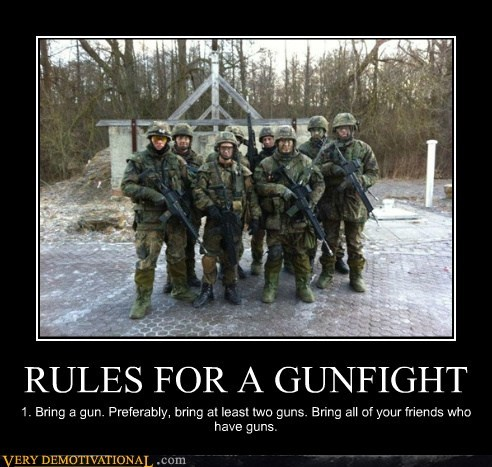 gun fight hilarious military rules