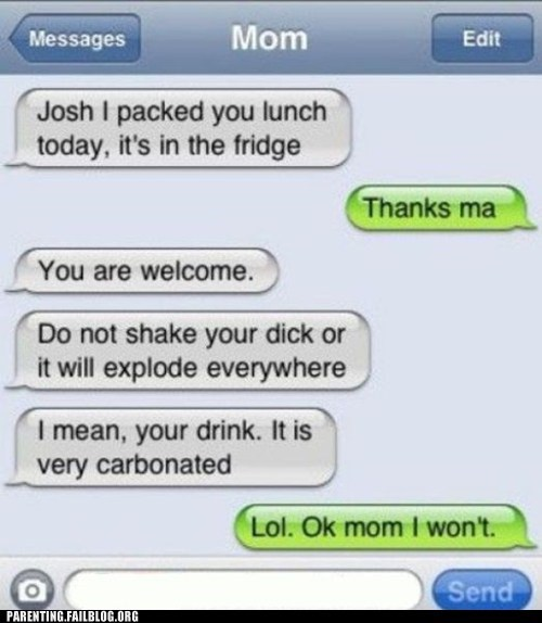 iphone lunch mom motherly advice text - 6099046912