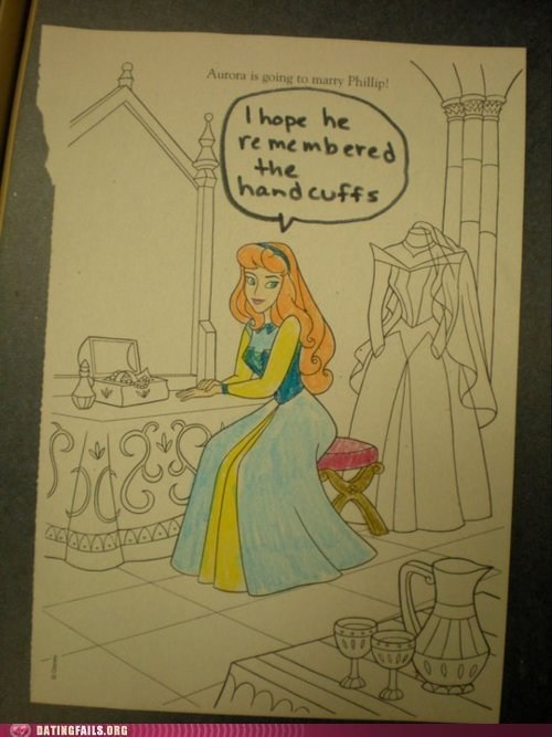coloring books,disney,handcuffs,princesses,sleeping beuaty
