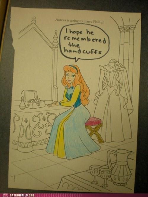 coloring books disney handcuffs princesses sleeping beuaty - 6099082752