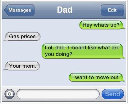 dad gas prices text