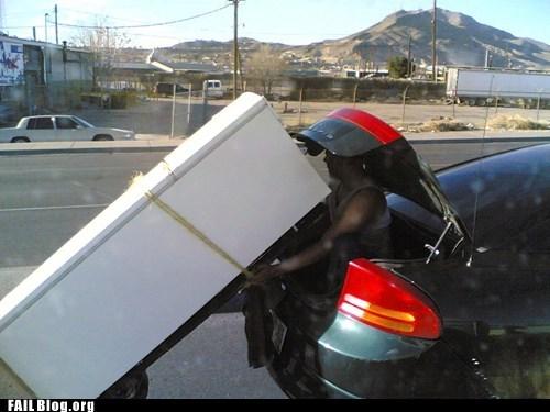 DIY,hauling,refridgerator,trunk