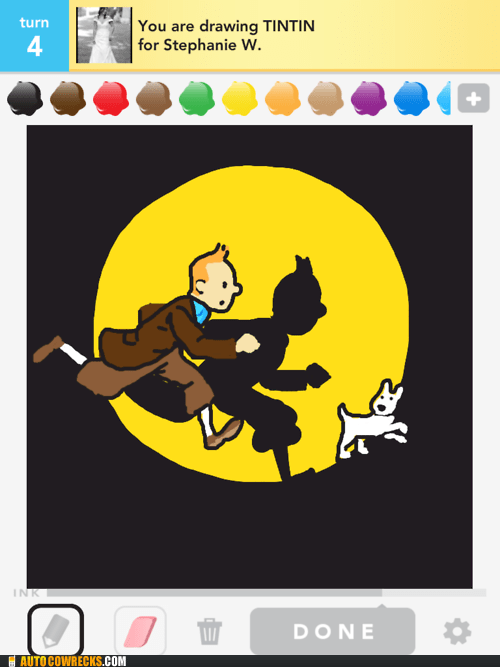 cartoons,draw something,tin tin