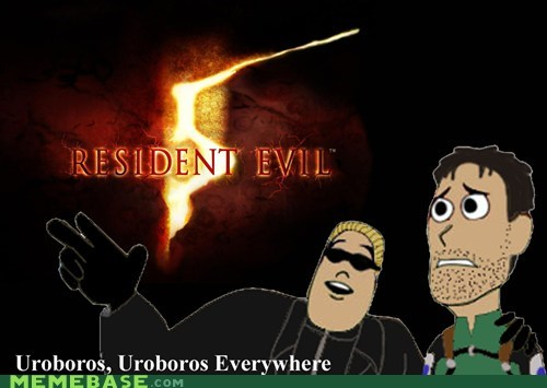 albert wesker,chris redfield,meme,Resident Evil 5,uroboros,x everywhere