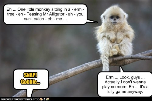 alligator dont-want eating game monkey over play rhyme tree - 6099329536