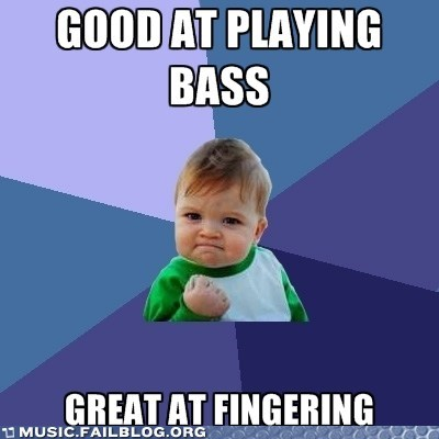 bass fingering pun sex success kid