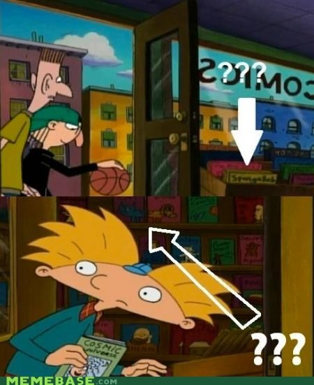 comics,football head,hey arnold,Memes,mind blown