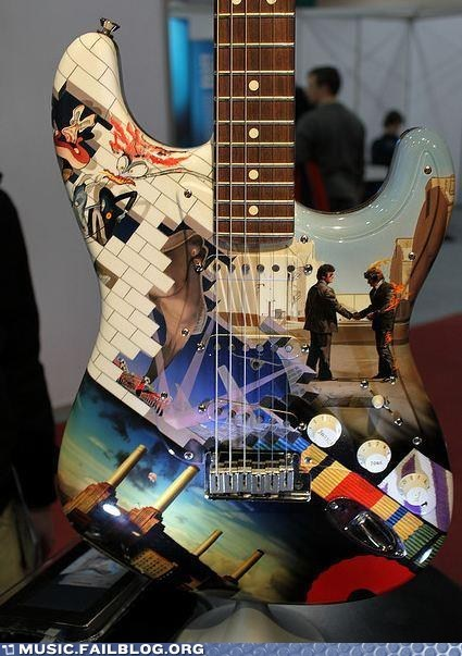 airbrush guitar Hall of Fame pink floyd spray paint - 6099421952