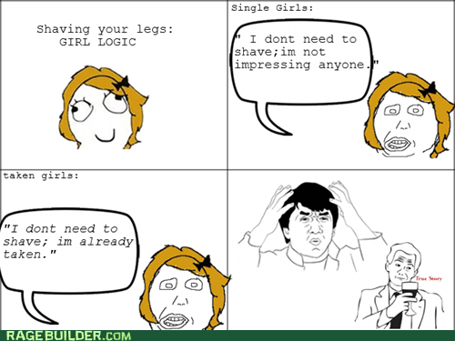 Rage Comics,relationships,shaving,true story