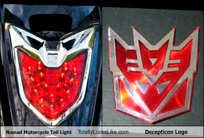 decepticon logo funny light TLL