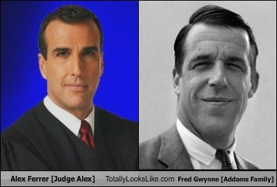 Alex Ferrer [Judge Alex] Totally Looks Like Fred Gwynne [Addams Family]