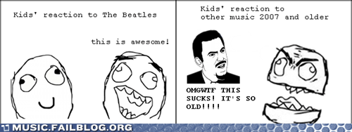 comic kids new old rage comic the Beatles - 6099720192