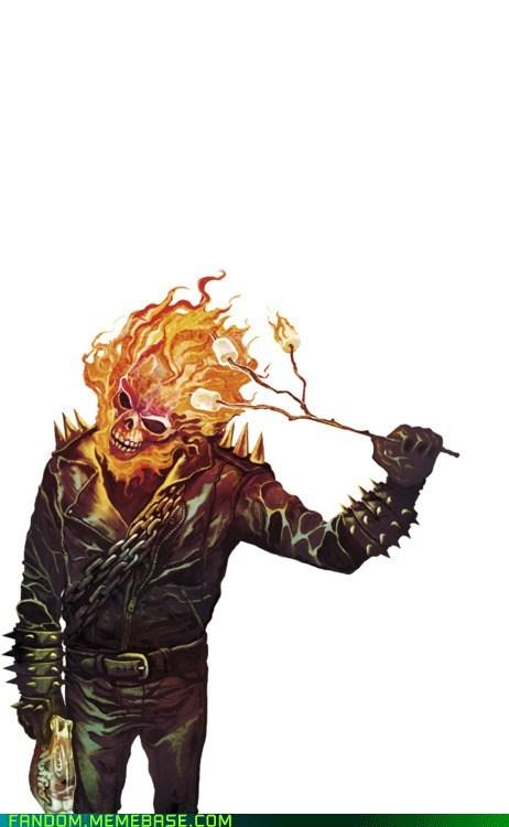 Fan Art flame ghost rider marshmallows - 6099789312