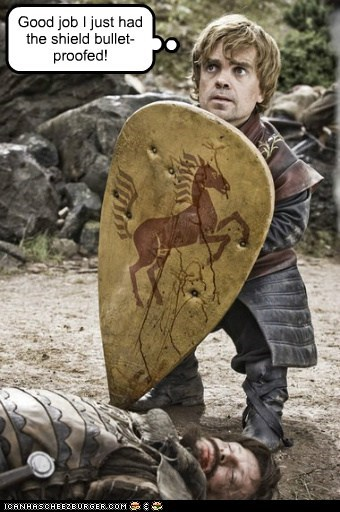 bulletproof Game of Thrones good job peter dinklage shield tyrion lannister Westeros - 6100015104