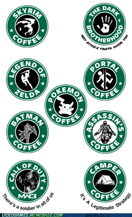 logos Starbucks tagline the internets video games