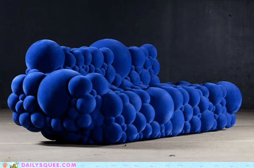 blue bubbles couch weird - 6100057856