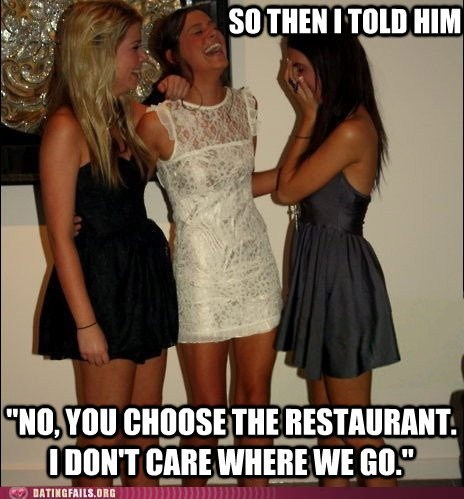 vindictive girls meme which restaurant you choose - 6100082944