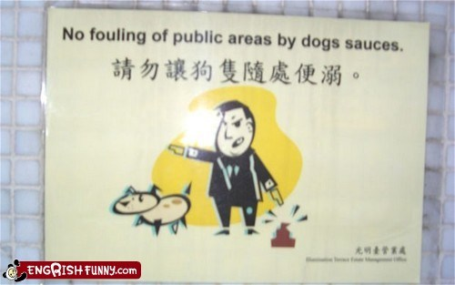 dog poop dogs engrish funny foulplay g rated Hall of Fame - 6100112384