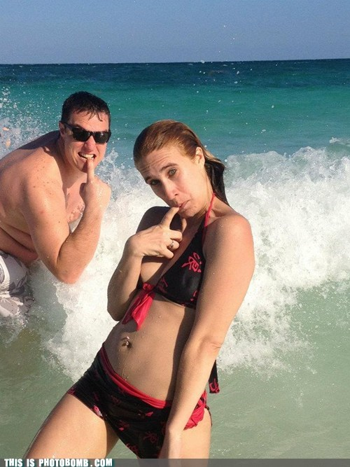 beach,bikini,girl,Good Times,photobomb,tide