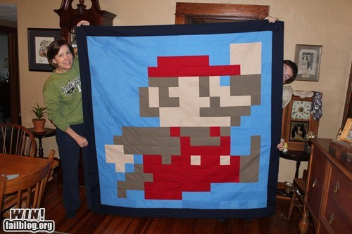mario quilt Super Mario bros video games