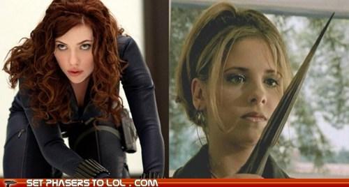 avengers Black Widow Buffy Buffy the Vampire Slayer fight Joss Whedon Sarah Michelle Gellar scarlet johansson what if - 6100161280
