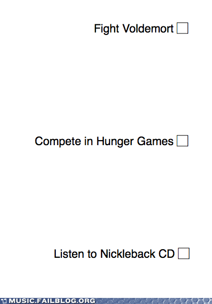 Harry Potter,hunger games,nickelback,voldemort