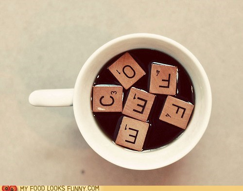 coffee,float,scrabble,tiles,wood