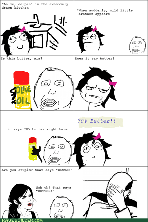 better butter derp olive oil picard facepalm Rage Comics - 6100283392