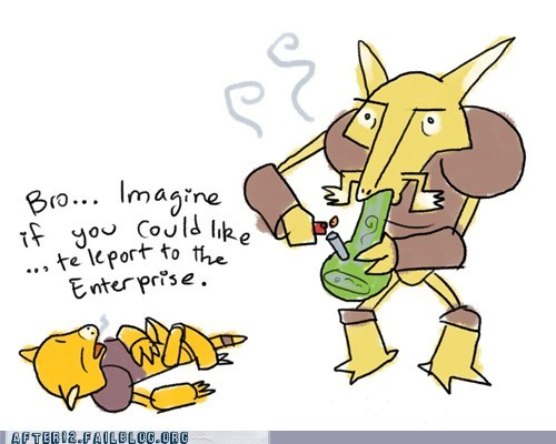 abra alakazam bong enterprise kadabra Pokémon Star Trek teleport - 6100312832
