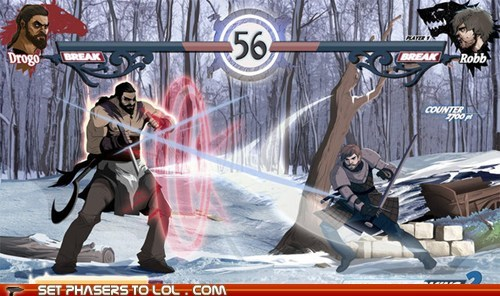 fighting game,Game of Thrones,Khal Drogo,mock up,Robb Stark,video games,wish