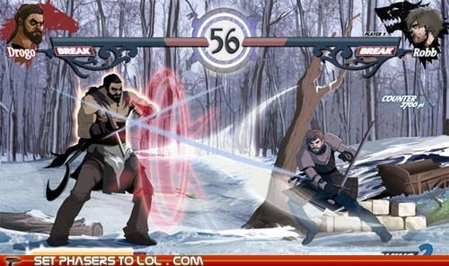 Game of Thrones Khal Drogo mock up Robb Stark video games wish - 6100319232