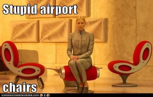 airport,Aliens,chairs,charlize theron,prometheus,stupid,uncomfortable