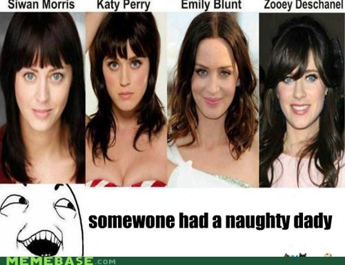 daddy emily blunt katy perry naughty Rage Comics zooey deschanel - 6100493568