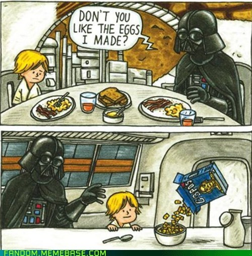 breakfast,darth vader,Fan Art,parenting
