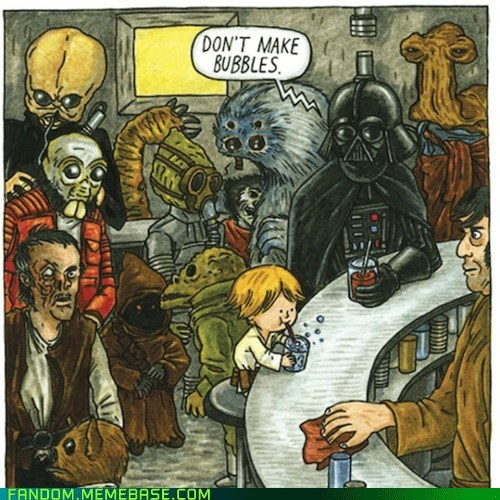 bubbles,darth vader,Fan Art,parenting