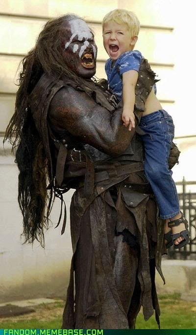 cosplay cute fantasy kids Lord of the Rings uruk hai