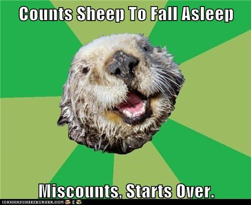 Counts Sheep To Fall Asleep Miscounts, Starts Over.