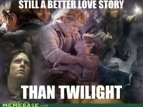 Lord of the Rings love story Memes twilight - 6103256320