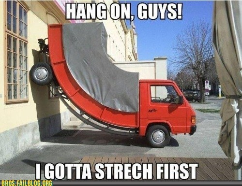 stretch stretching truck working out - 6103495168