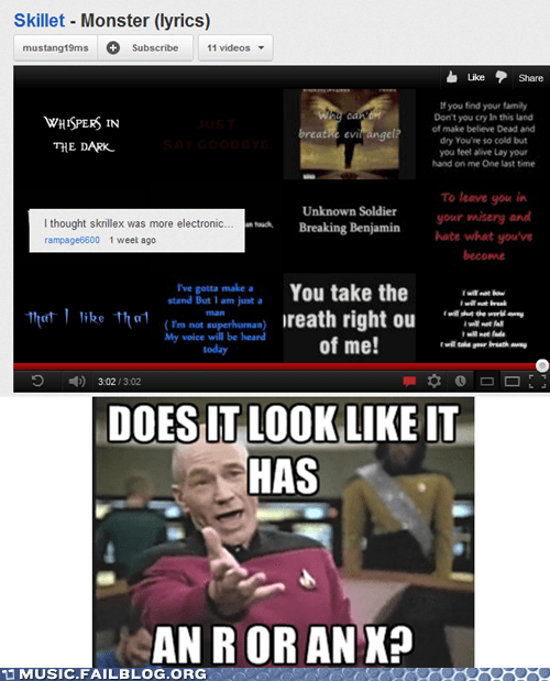 christian rock comments dubstep picard skillet skrillex Star Trek wtf picard youtube youtube comments