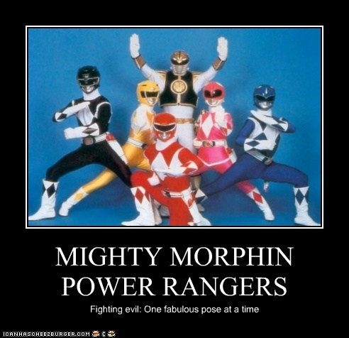 evil fabulous fighting Mighty Morphin Power Rangers pose power rangers - 6103565056