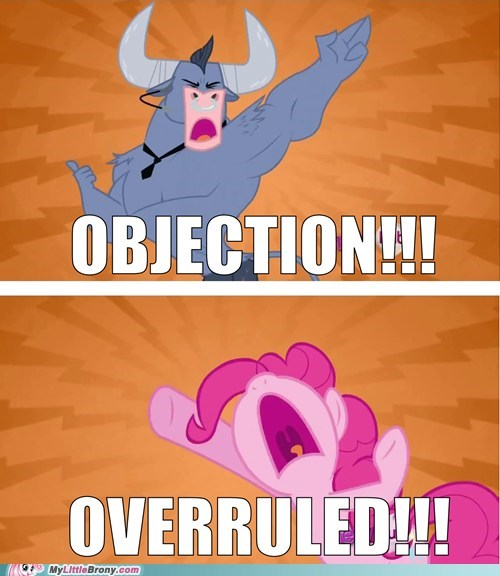 crossover iron will objection overruled phoenix wright pinkie pie - 6103631104