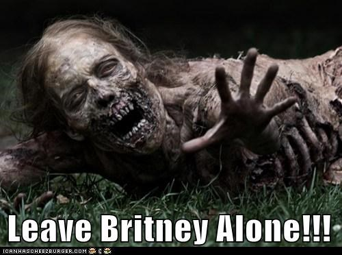 aging dead joke leave britney alone reaching ugly The Walking Dead zombie