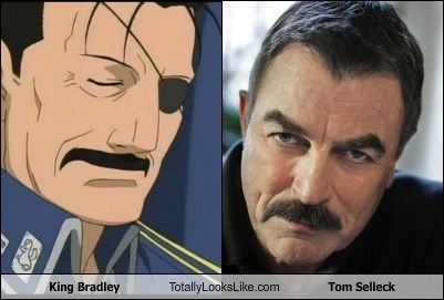 King Bradley Totally Looks Like Tom Selleck