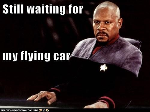 angry annoyed avery brooks Deep Space Nine flying car Star Trek still waiting - 6103922432