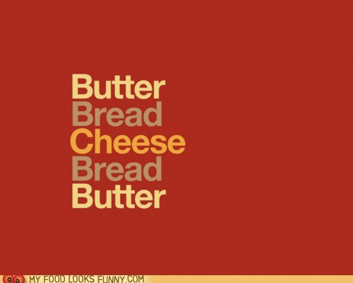 bread butter cheese graphic grilled cheese sandwich - 6103965440