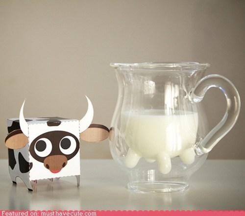 glass milk pitcher silly - 6104055040